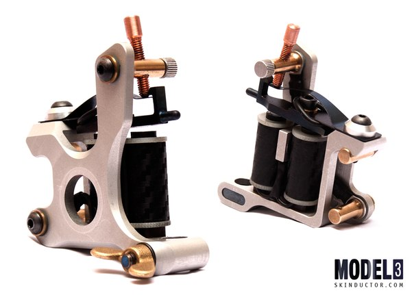 Skinductor coil machine abstract silver tattoo for Tattoo machine online shopping in india